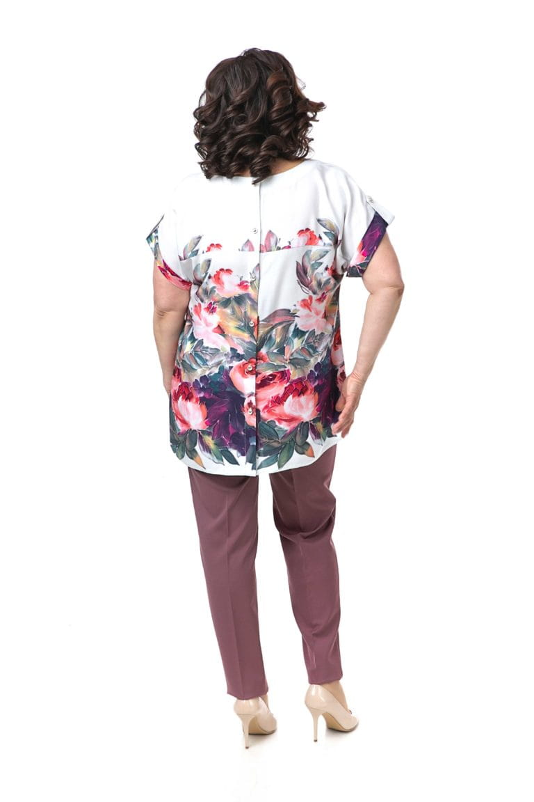 БЛ-573-2 арт.19-142 молоко цветы +С-39-1 арт.19-132 роз барби (48-62) 1100